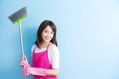 Piękno gospodyni domowej uśmiech ty Zdjęcie Royalty Free