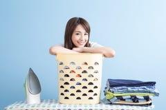 Piękno gospodyni domowej uśmiech ty Fotografia Stock