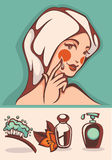 Piękno i zdrój royalty ilustracja