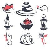 Piękno i zdrój podpisujemy, ikony, emblematy i symbole, ilustracji