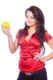piękno jabłczana dziewczyna zdjęcie royalty free