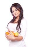 piękno jabłczana dziewczyna zdjęcia stock