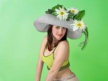 piękno kapeluszu dziewczyny się uśmiecha Obraz Royalty Free