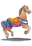 Piękno koń na odosobnionym białym tle ilustracja wektor