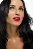 Piękno kobieta Z Długim czarni włosy. zdjęcie royalty free
