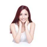 Piękno kobieta z powabnym uśmiechem Zdjęcie Stock