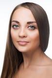 Piękno kobiety twarz zdjęcia royalty free
