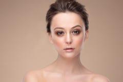 Piękno kobiety twarzy portret obrazy royalty free