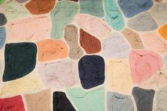 Piękno koloru sztuki kształtów deseniowy tło Obrazy Royalty Free
