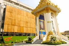 Piękno Królewska Crematorium replika przy Bangkok metropolita administracją Obraz Stock