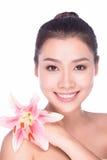 piękno kwiat robi w górę kobiety zdroju różowemu lato Obrazy Stock