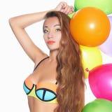 Piękno młoda kobieta w bikini Zdjęcie Stock