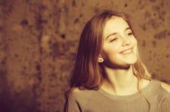 Piękno, moda, młodość, świeżość, fryzjer, uczucie i emocje, fotografia stock