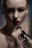 Piękno modela seansu cisza obraz stock