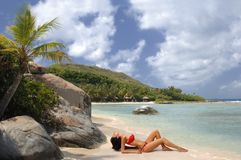 piękno na plaży fotografia stock