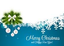 Piękno Nowego Roku Bożych Narodzeń abstrakcjonistyczny tło i Obrazy Stock