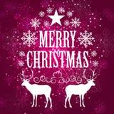 Piękno Nowego Roku Bożych Narodzeń abstrakcjonistyczny tło i Obraz Royalty Free