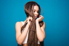 Piękno portret afrykańska dziewczyna obraz royalty free