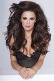 Piękno portret atrakcyjna brunetki kobieta Zdjęcia Royalty Free
