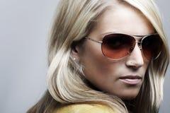 Piękno portret blondynki kobieta fotografia stock