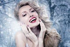 Piękno portret blondynki zmysłowa kobieta obrazy stock