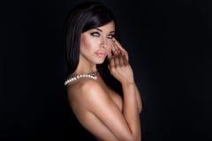 Piękno portret elegancka kobieta zdjęcie royalty free