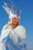 piękno portret królową śniegu Zdjęcia Royalty Free