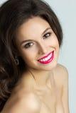 Piękno portret młoda brunet kobieta Obrazy Royalty Free