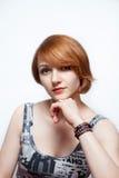 Piękno portret młode kobiety Zdjęcie Royalty Free
