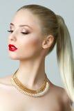 Piękno portret wspaniała blondynki kobieta Obrazy Royalty Free