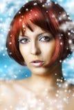 piękno robi w górę zima naturalnemu zdrojowi Zdjęcia Royalty Free