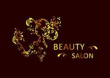Piękno salonu złoto royalty ilustracja