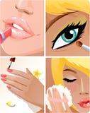 piękno set ilustracji