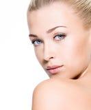 Piękno skóra twarz Zdjęcie Royalty Free