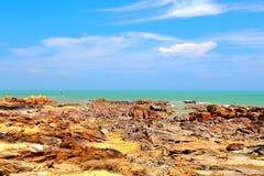 Piękno skały wybrzeże zdjęcia royalty free