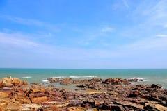 Piękno skalisty wybrzeże fotografia royalty free