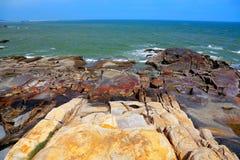 Piękno skalisty wybrzeże zdjęcia stock