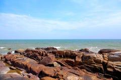 Piękno skalisty wybrzeże zdjęcie royalty free