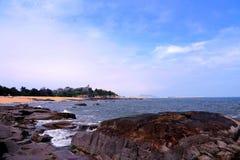 Piękno skalisty wybrzeże fotografia stock