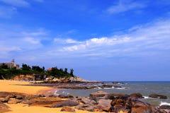 Piękno skalisty wybrzeże zdjęcia royalty free