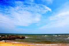 Piękno skalisty wybrzeże obraz royalty free