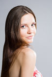 Piękno strzelający wspaniała młoda brunetka. Fotografia Stock