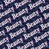 Piękno teksta wzór Nad Ciemnym Kwiecistym tłem Zdjęcia Royalty Free