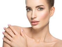 Piękno twarz młoda piękna kobieta fotografia stock
