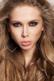 Długi Falisty włosy Obrazy Stock