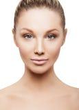 Piękno twarz piękna kobieta zdjęcia royalty free