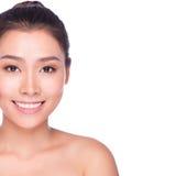 Piękno twarzy zbliżenie - Azjatycka kobieta Obrazy Stock