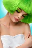 Piękno włosy Moda modela dziewczyny portret Kobieta Z Krótkim Gre fotografia royalty free