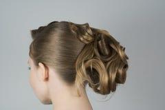 Piękno z włosy w romantycznym stylu obraz royalty free