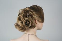 Piękno z włosy w romantycznym stylu Fotografia Stock